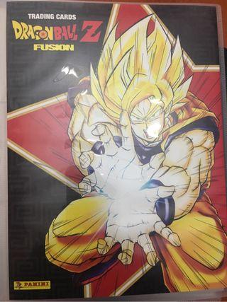 Álbum trading cards dragon ball z fusión + 70 cartas