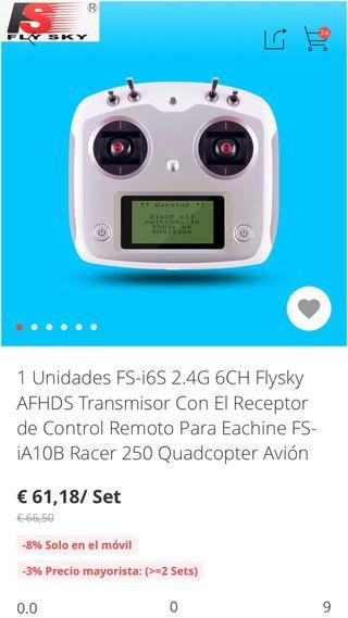 Conjunto dron emisora