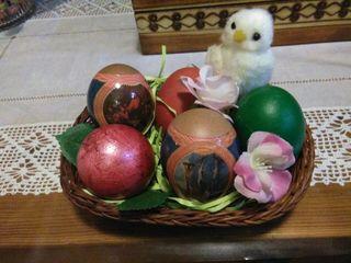 Huevos de Pascua . para adorno son auténticos