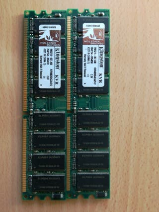 Memoria ram para pc 2 x 512 mb