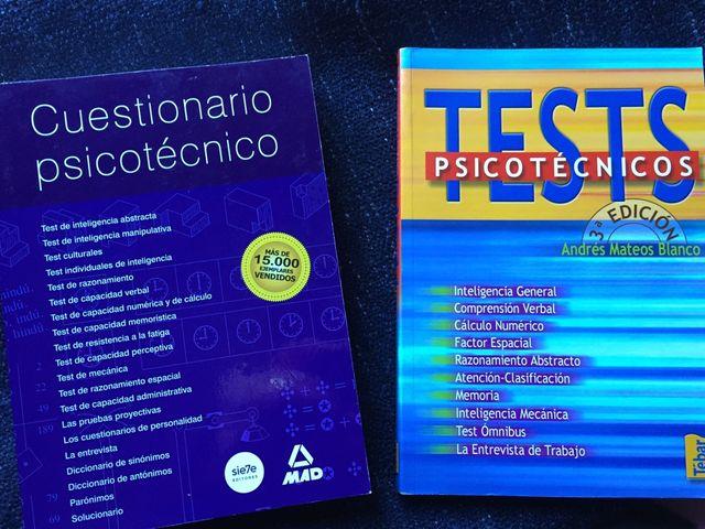 Psicotécnicos (2 libros nuevos + 1 de regalo)