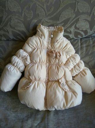 chaqueta tipo plumas niña