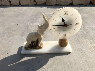 Reloj elefante marmol antiguo
