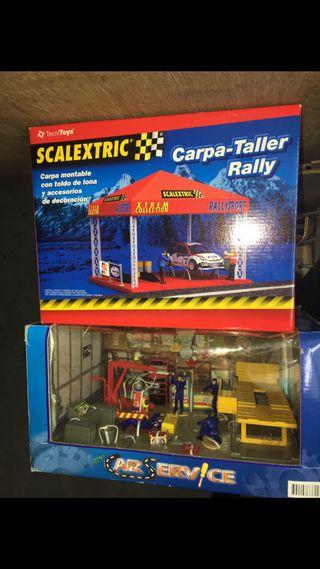 Taller slot scalextric maqueta