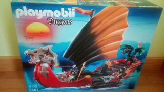 Barco de dragones de playmobil