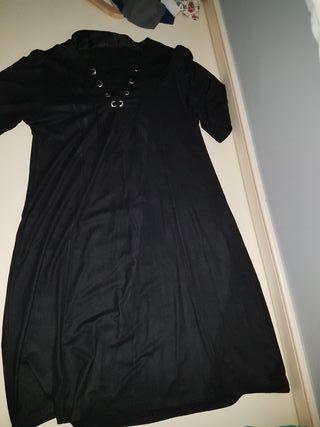 vestido negro invierno
