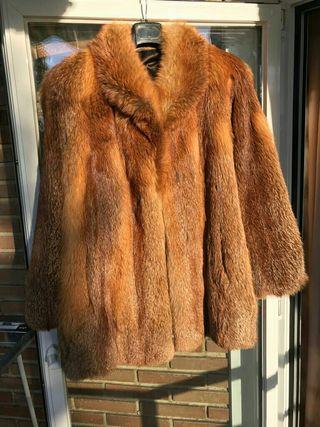 Abrigo piel zorro australiano