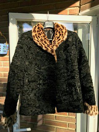 Abrigo piel original de astrakan