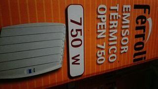 Emisor térmico de bajo consumo ferroli 750w