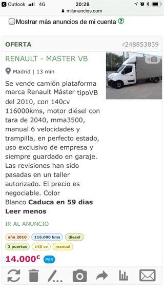 Camión renault Master 2011