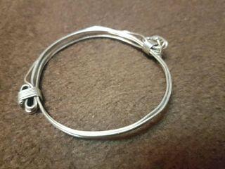 pulsera de plata de 1 ley de caballero