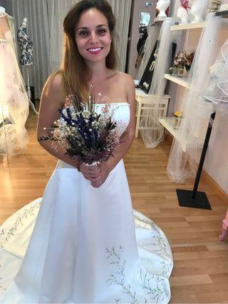 Ramo novia, flor preservada.