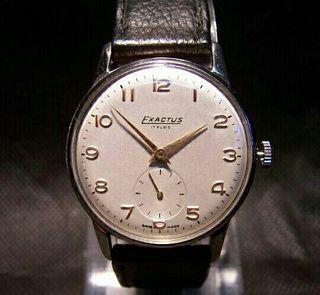 Reloj de caballero, marca Exactus. Años 50 - 60