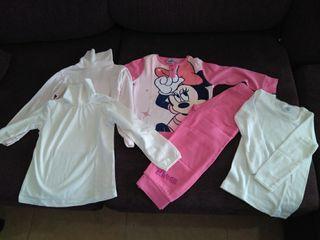 lote ropa niña pijama , jerseys y interior