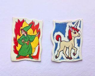Pegatinas Dragones y Mazmorras Panrico