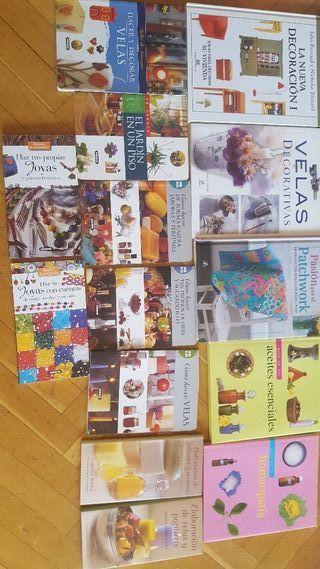 libros herbolario. velas, patchwork, jabones, deco