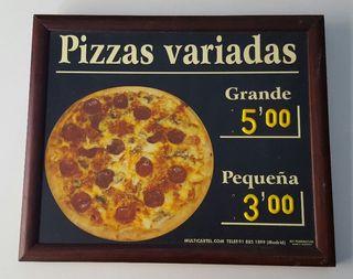 Cartel publicidad de pizza