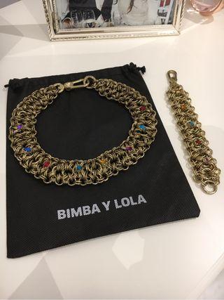 Collar y pulsera Bimba & Lola