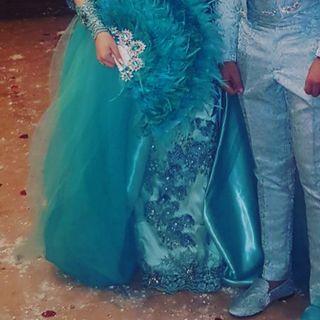 Vestido de boda gitana verde