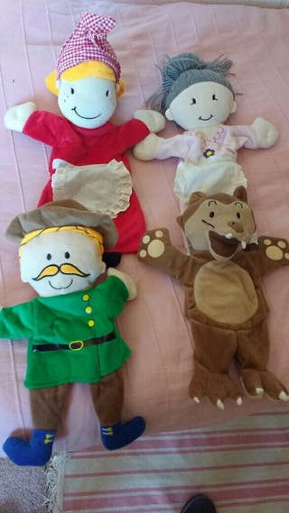 marionetas o títeres, cuento de Caperucita.