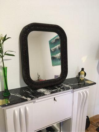 Espejo vintage madera tallado