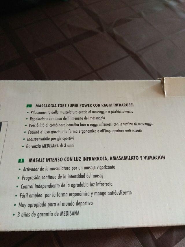 Rodillo de masaje medisana con infrarojos