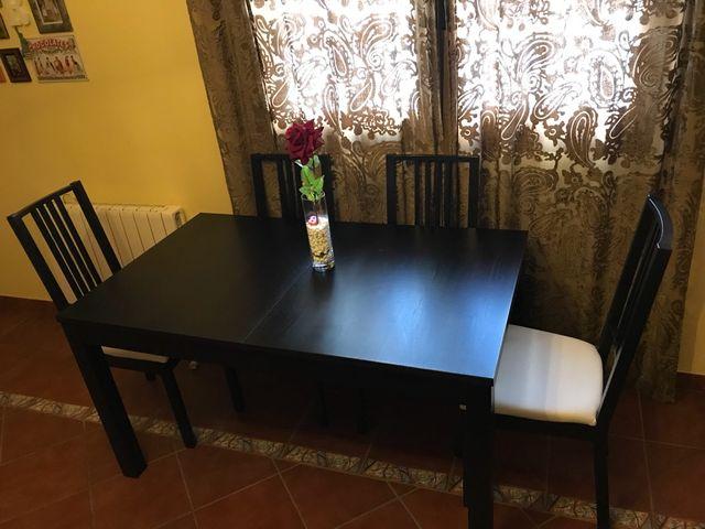 Mesa y sillas de salon/comedor Bajada de precio!! de segunda mano ...