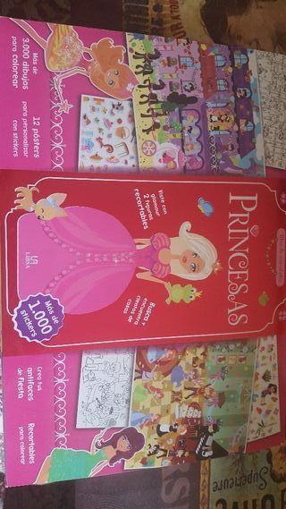 Bloc pegatinas princesas