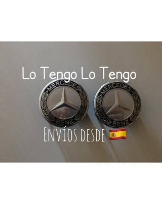 Set 4 Tapabujes mercedes Benz emblema-2 colores
