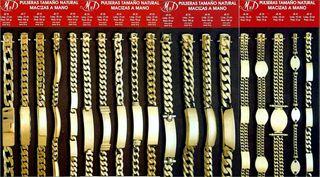 Cadenas o pulseras macizas oro de ley 18 ktes
