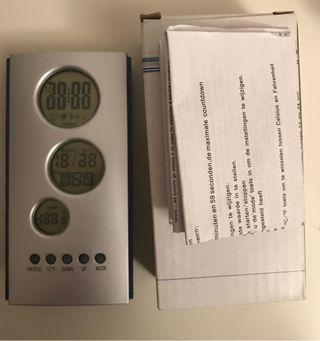 Reloj despertador temperatura