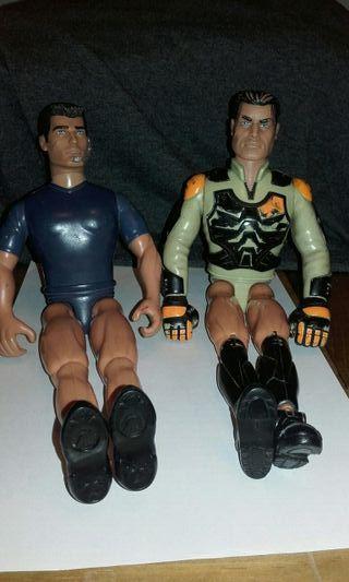 Muñecos Action man precio por los dos