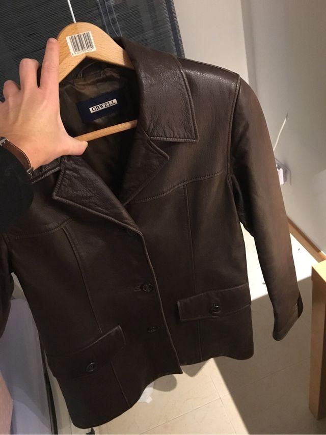 alta moda super barato se compara con el precio se mantiene estable Chaqueta americana cuero mujer marrón talla 40-42 de segunda ...