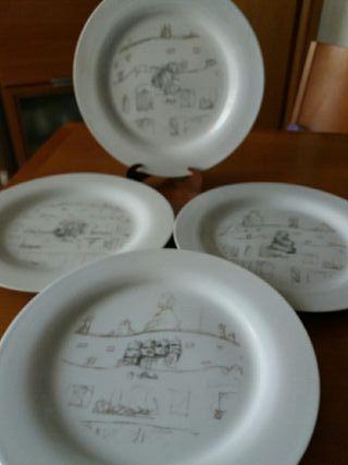 conjunto 4 platos