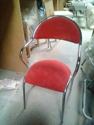 silla tela roja