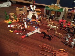 Lote playmobil indios y vaqueros