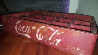 Caja de madera Coca Cola