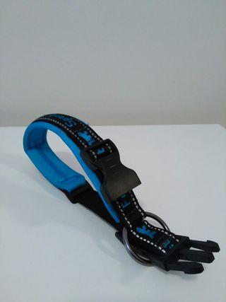 Collar perro Ferplast 35-40cm acolchado negro/azul