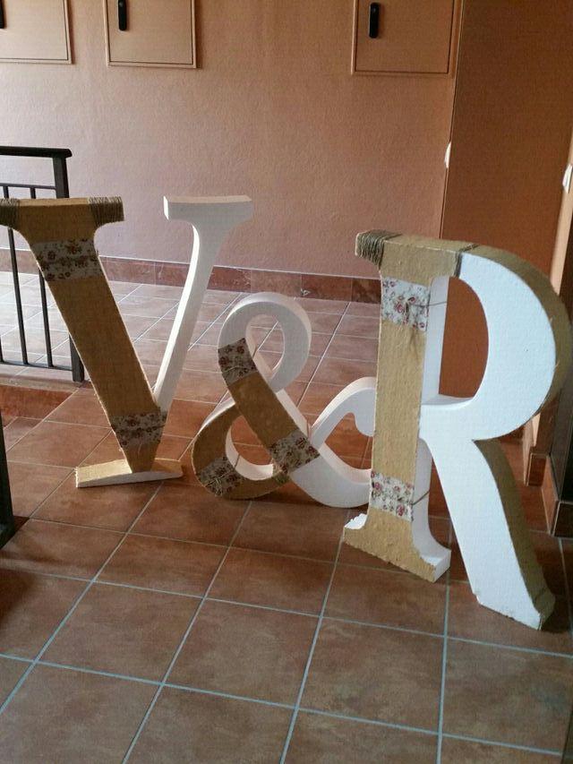 Letras decoradas de corcho r y v para bodas de segunda mano por 50 en arroyo de la miel wallapop - Letras de corcho decoradas ...