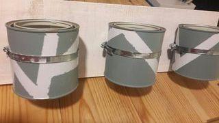 colgador decorativo con 3 maceteros/cubos
