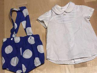 Ranita + camisa bebé 1-3 meses