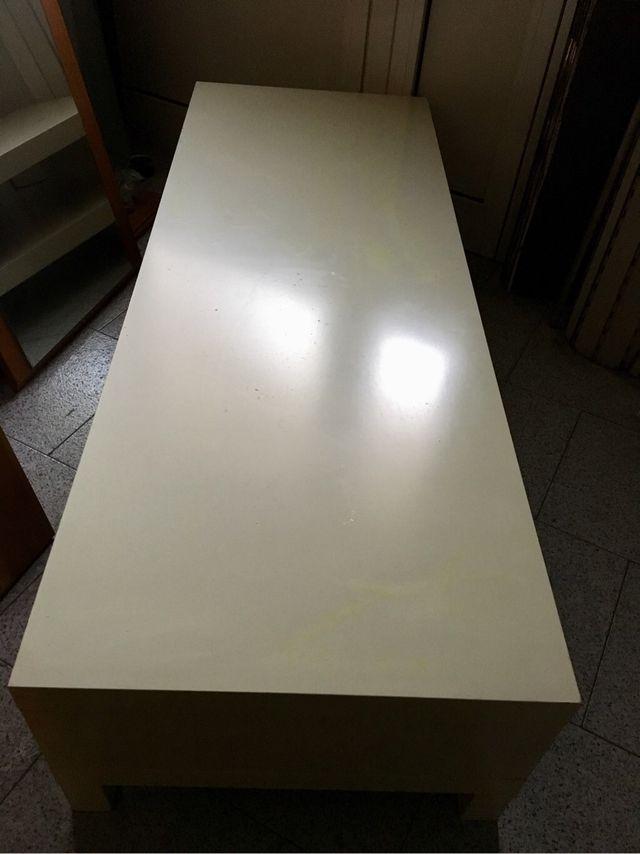 Mesa tv ikea lack blanco de segunda mano por 20 en - Ikea mesa lack blanca ...