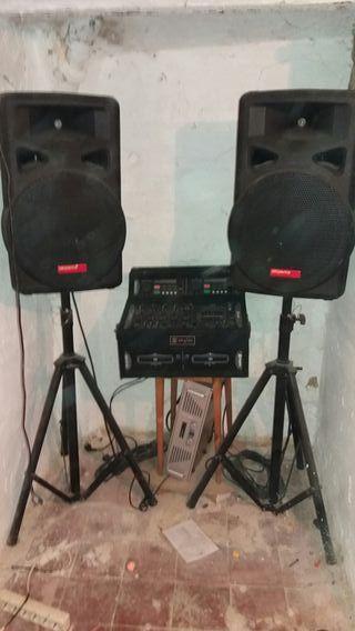 equipo completo de música tal como se ve
