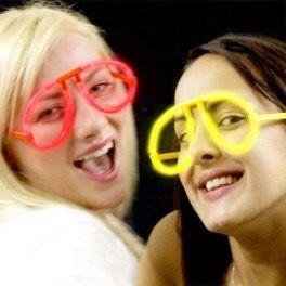 Gafas nuevas luminosas para fiestas pak de 10 unidades