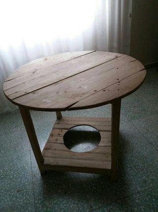 Mesa camilla antigua de segunda mano por 5 en for Muebles puertollano