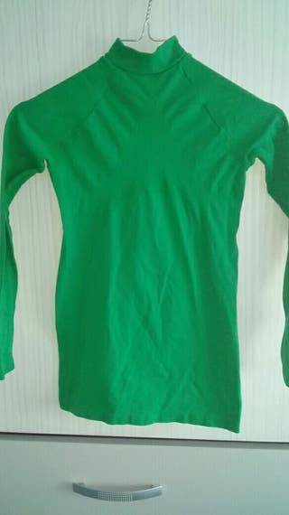 Camiseta térmica verde talla 10
