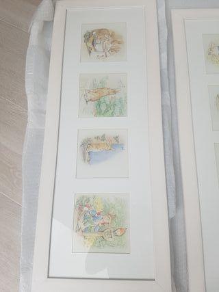 Cuadros Beatrix Poter y Peter Rabbit