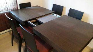 Conjunto de mesa y sillas comedor