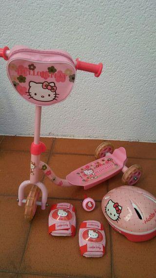 Patinete 3 ruedas Hello Kitty