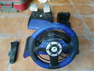 Volante Speedster 3 para Play Station 2 + mando dv